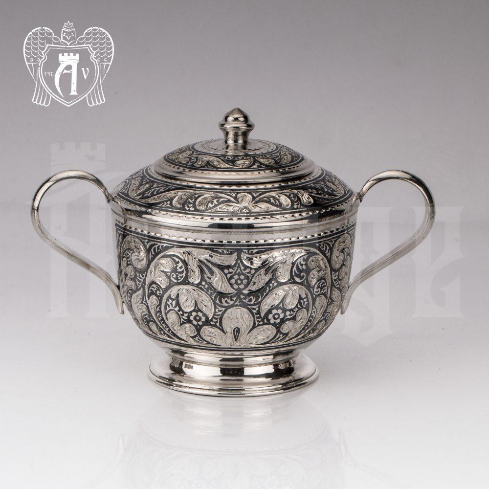 Серебряный сервиз чайный «Кардинал»  Апанде, 111049249