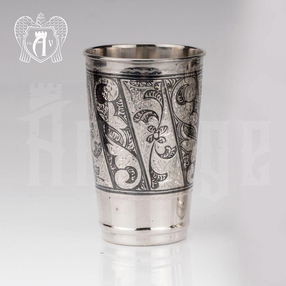 Серебряный стакан «День и ночь»  Апанде, 71000416