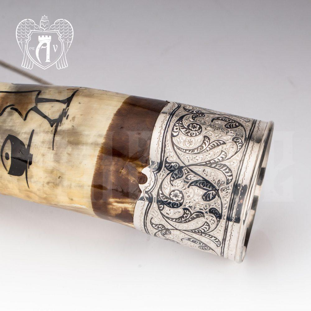 Большой рог для вина серебряный «Этнос» Апанде, 170004