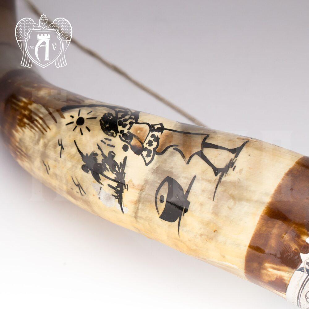Большой рог для вина серебряный «Этнос» Апанде, 170005