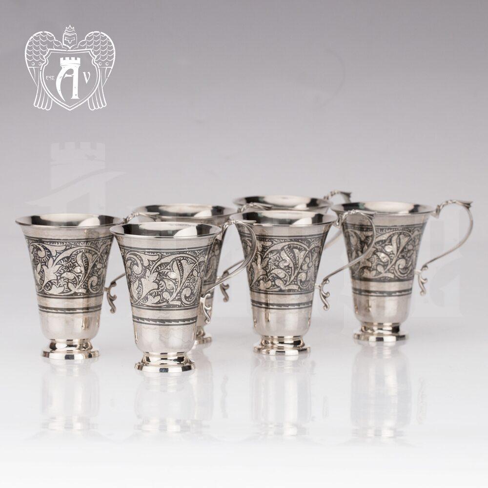Набор серебряных кружек «Лилия» Апанде, 32009116