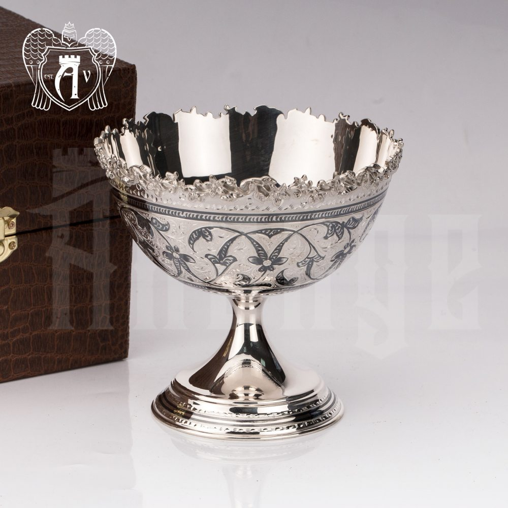 Конфетница из серебра для фруктов и сладостей «Мина» Апанде, 5200014