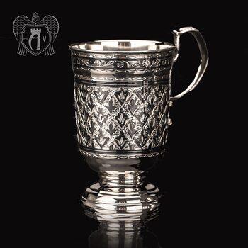 Кружка из серебра для напитков  «Елочка»