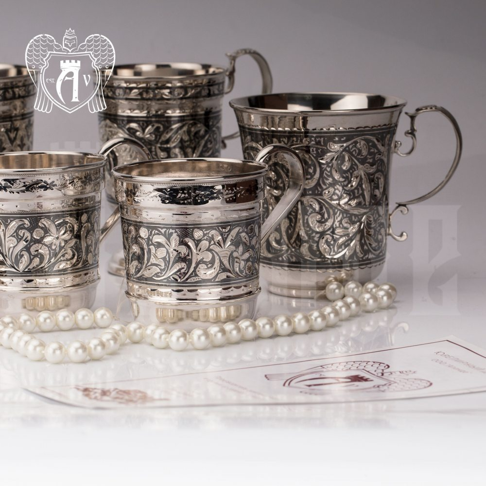 Кружка из серебра для напитков  «Рим» Апанде, 32009115