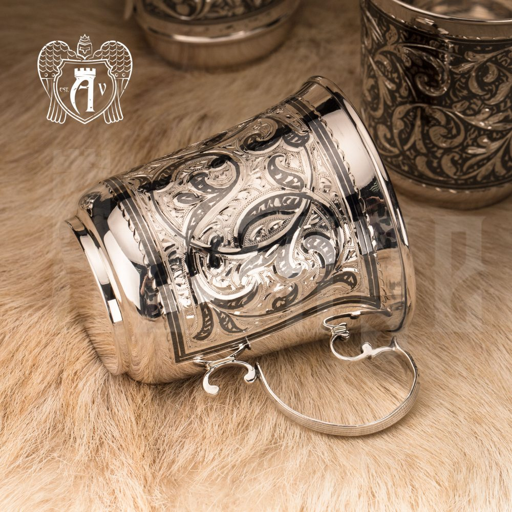 Большая кружка из серебра для напитков  «Орнелла» Апанде, 32009114