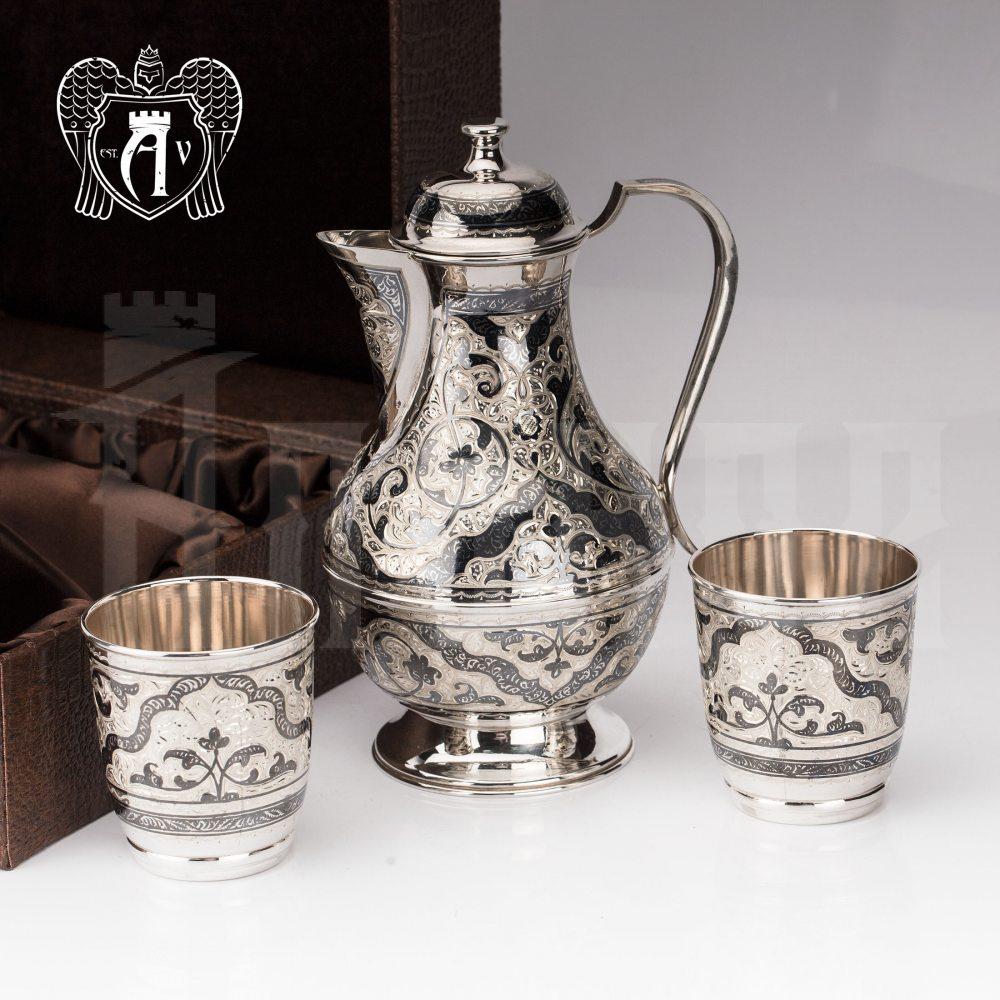 Серебряный набор для воды/напитков  «Люпин» Апанде, 11100060