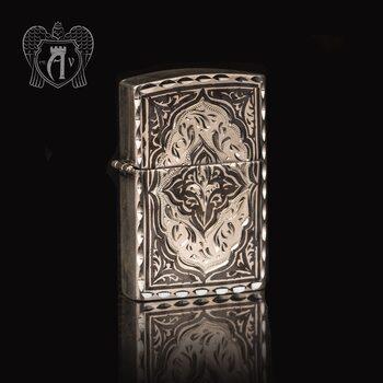 Зажигалка из серебра  «Велес»