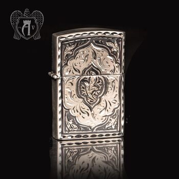 Зажигалка из серебра  «Клод»
