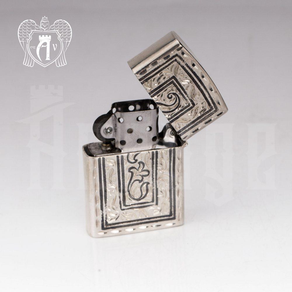 Зажигалка из серебра  «Бонд»  Апанде, 5500024