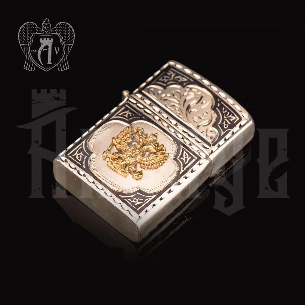 Зажигалка из серебра  «Держава»  Апанде, 5500025