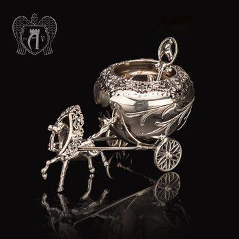Солонка из серебра «Упряжка»