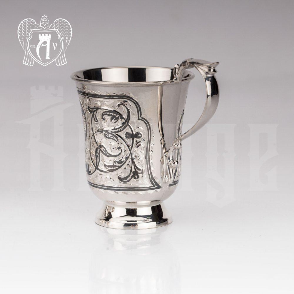 Кружка из серебра для напитков  «Клодия»