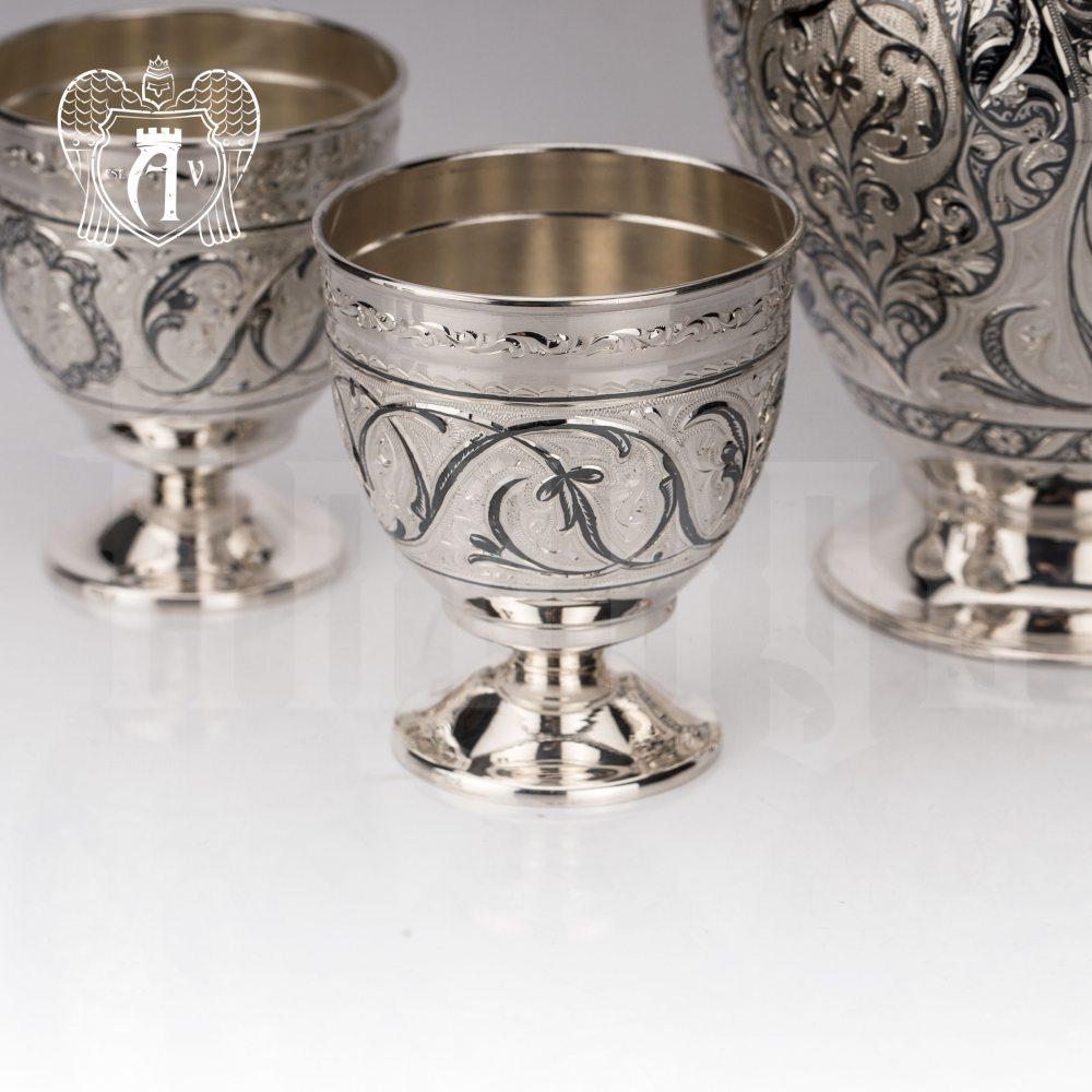 Бокалы из серебра «Каллисто» 2 шт