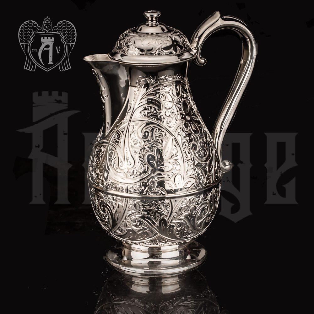 Кувшин из серебра «Нежность» без черни