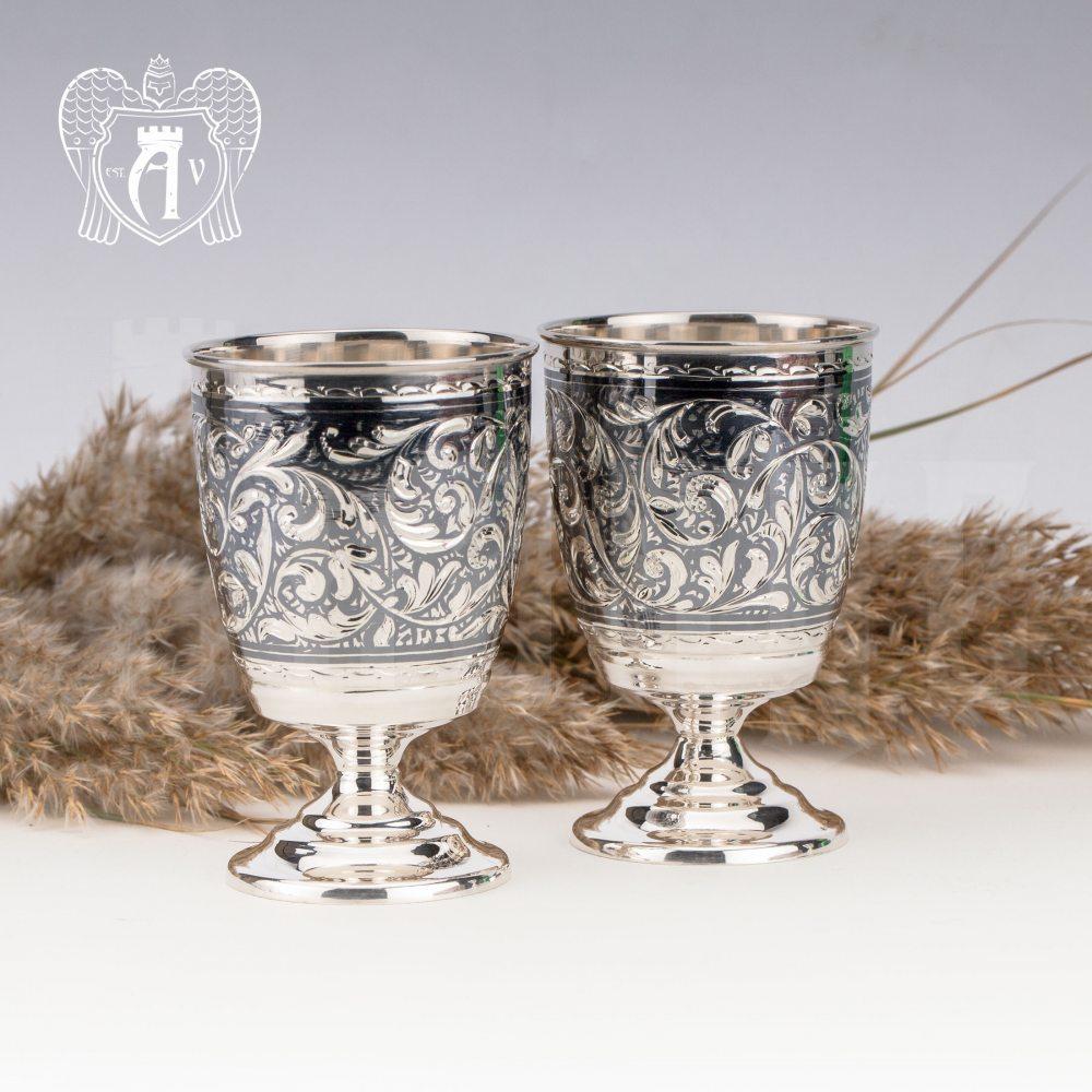 Кувшин и два стакана  из серебра  «Клио»