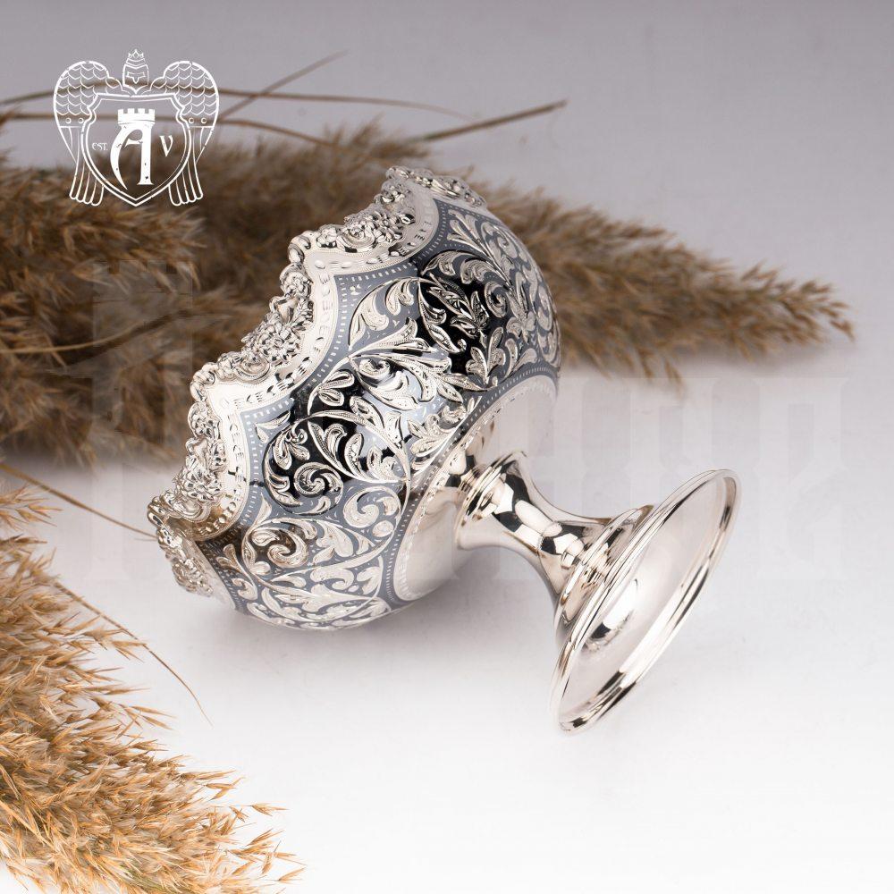 Конфетница из серебра  «Клио»
