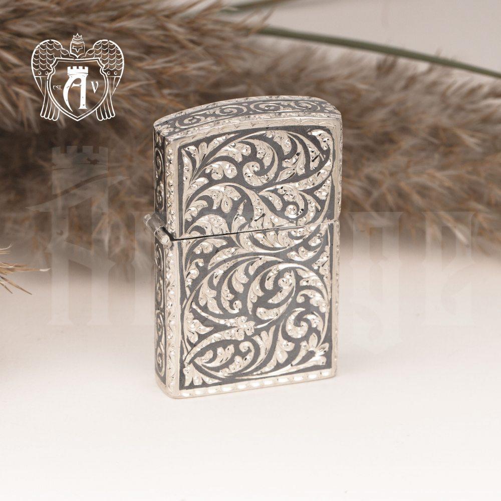 Зажигалка из серебра  «Клио»