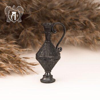 Подвеска  из серебра «Кувшин» с чернением