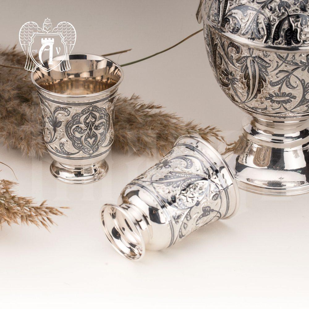 Стаканы из серебра «Лора» набор 2 шт