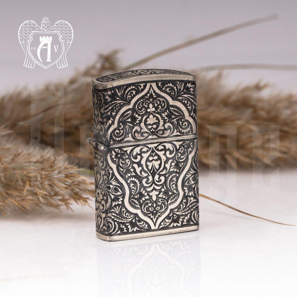 Зажигалка из серебра  «Крона»