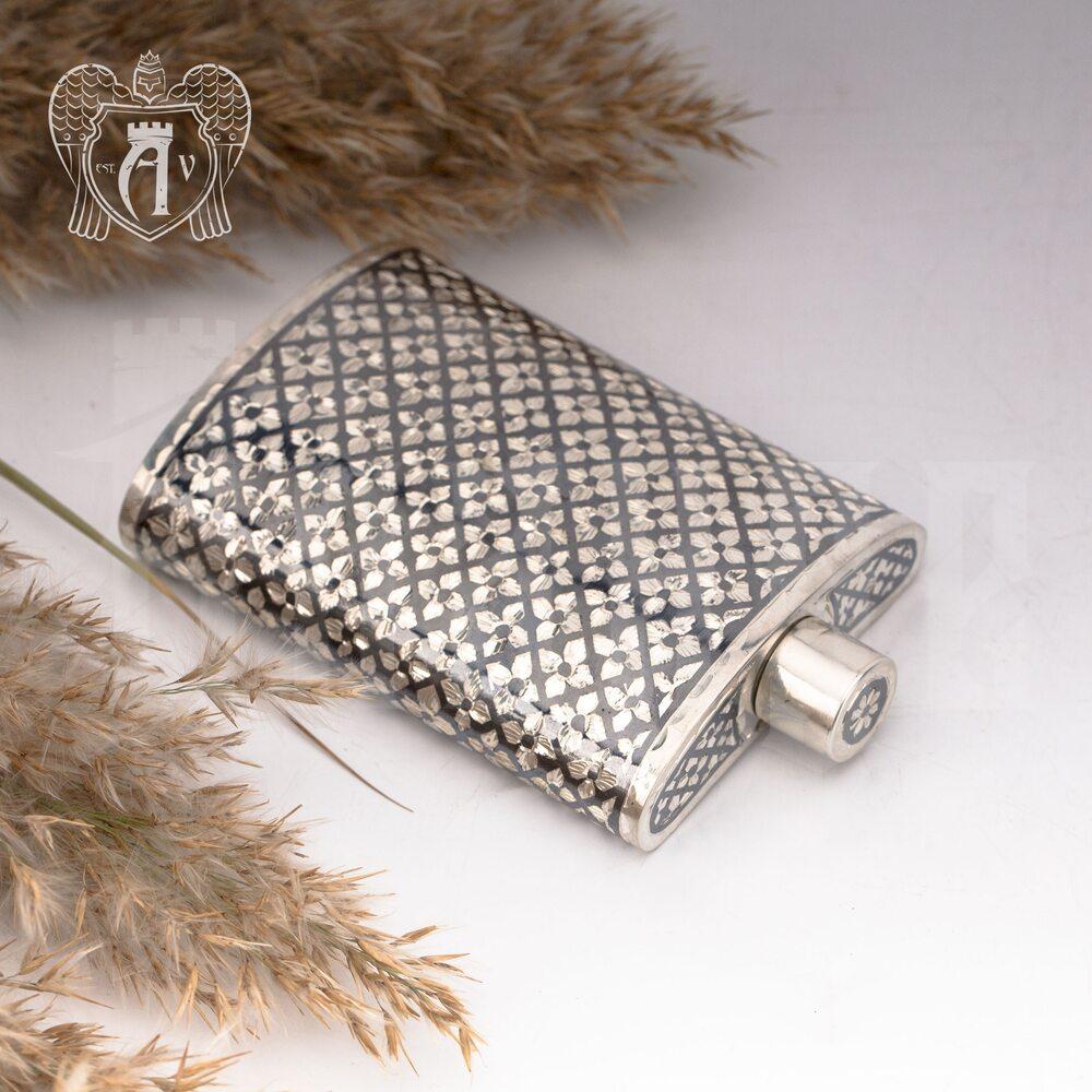 Серебряная фляжка  «Княжеская» малая