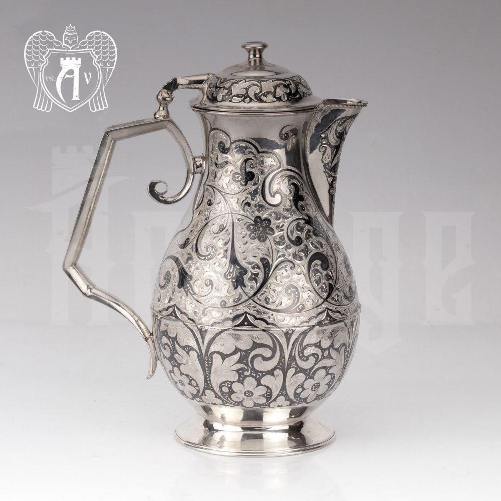 Кувшин и два стакана  из серебра  «Весна»