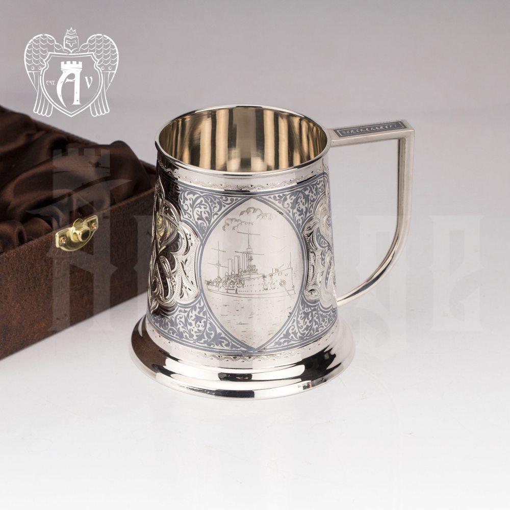 Кружка из серебра  «Аврора»