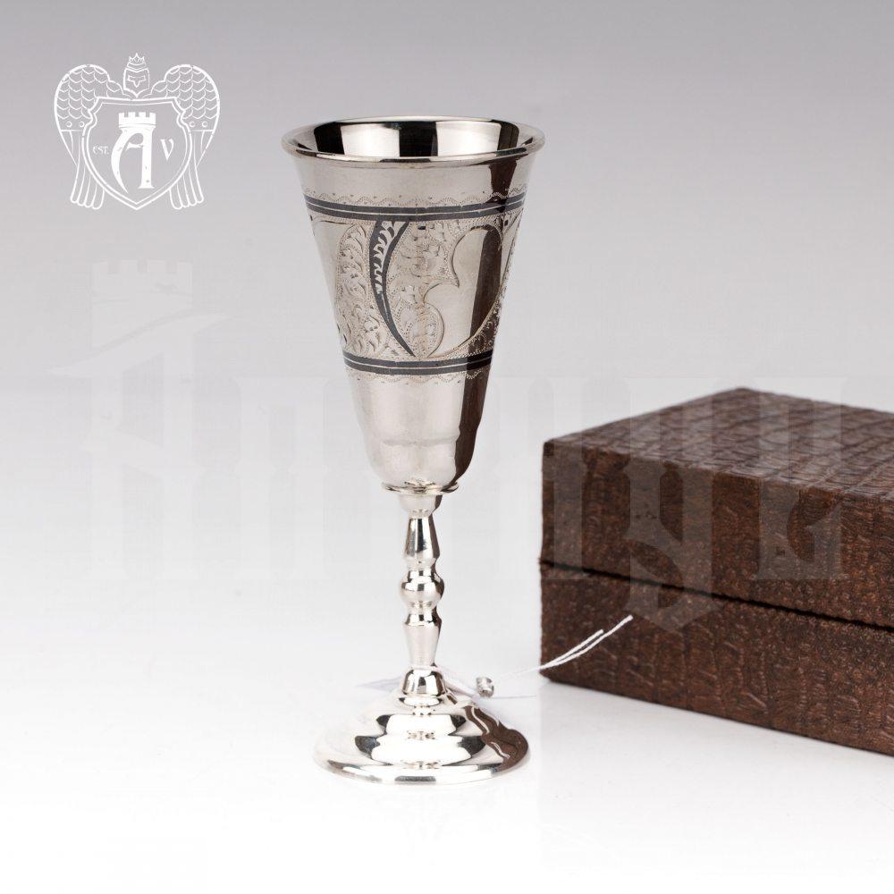 Набор рюмок из серебра  «Миро» 2 шт