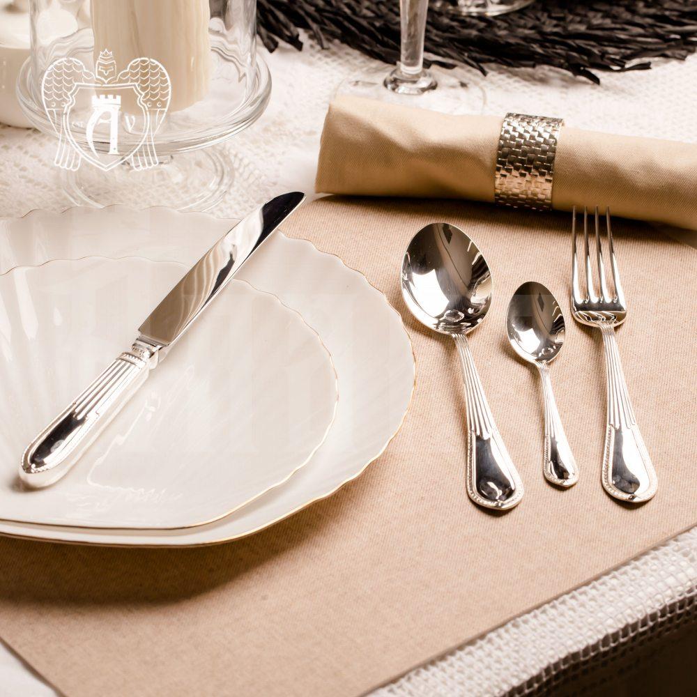 Набор из серебра 925 пробы ножи и вилки на 2 персоны «Элегант» 4 предмета
