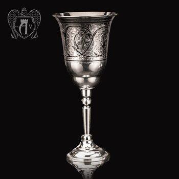 Большой бокал из серебра «Лоза»