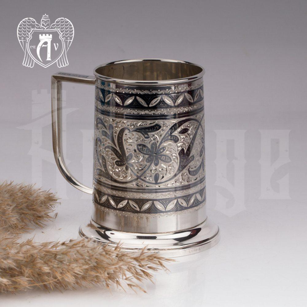 Серебряная пивная кружка «Барон»