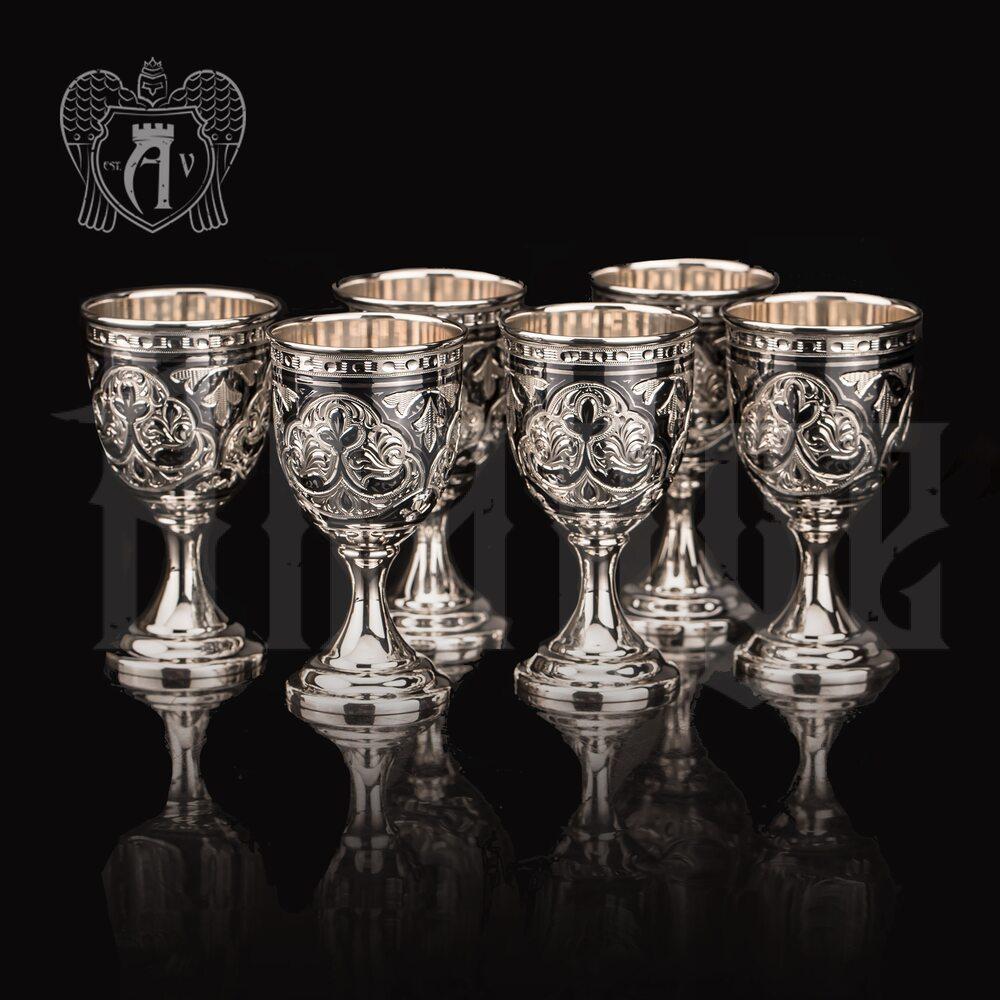 Набор рюмок из серебра  «Ампир»