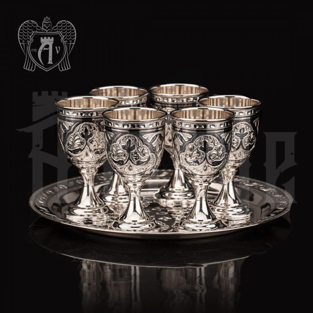 Серебряный набор водочный «Ампир»