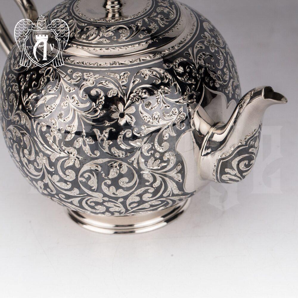 Сервиз серебряный чайный «Флоранж»