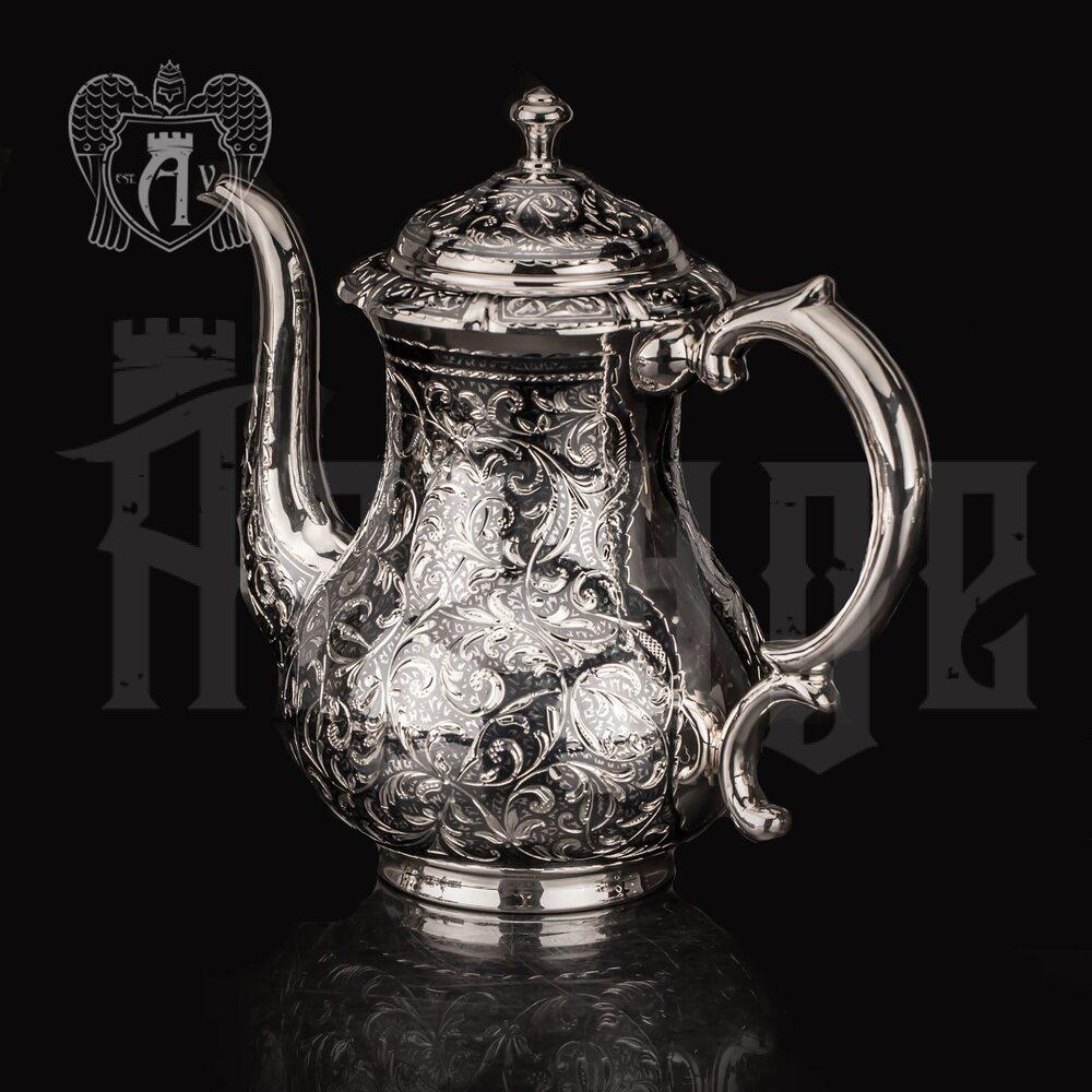 Кофейник из серебра «Флоранж»
