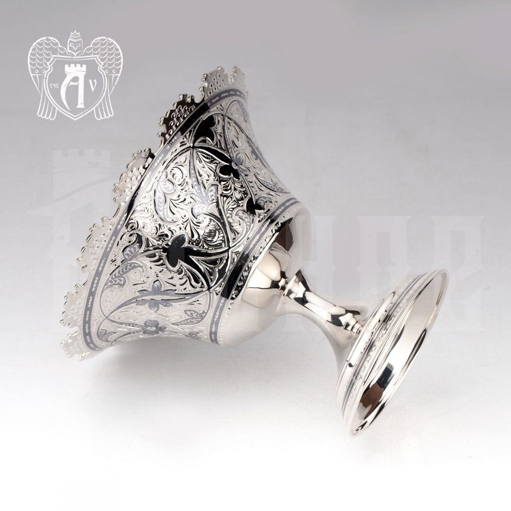 Конфетница из серебра  «Мирелла»
