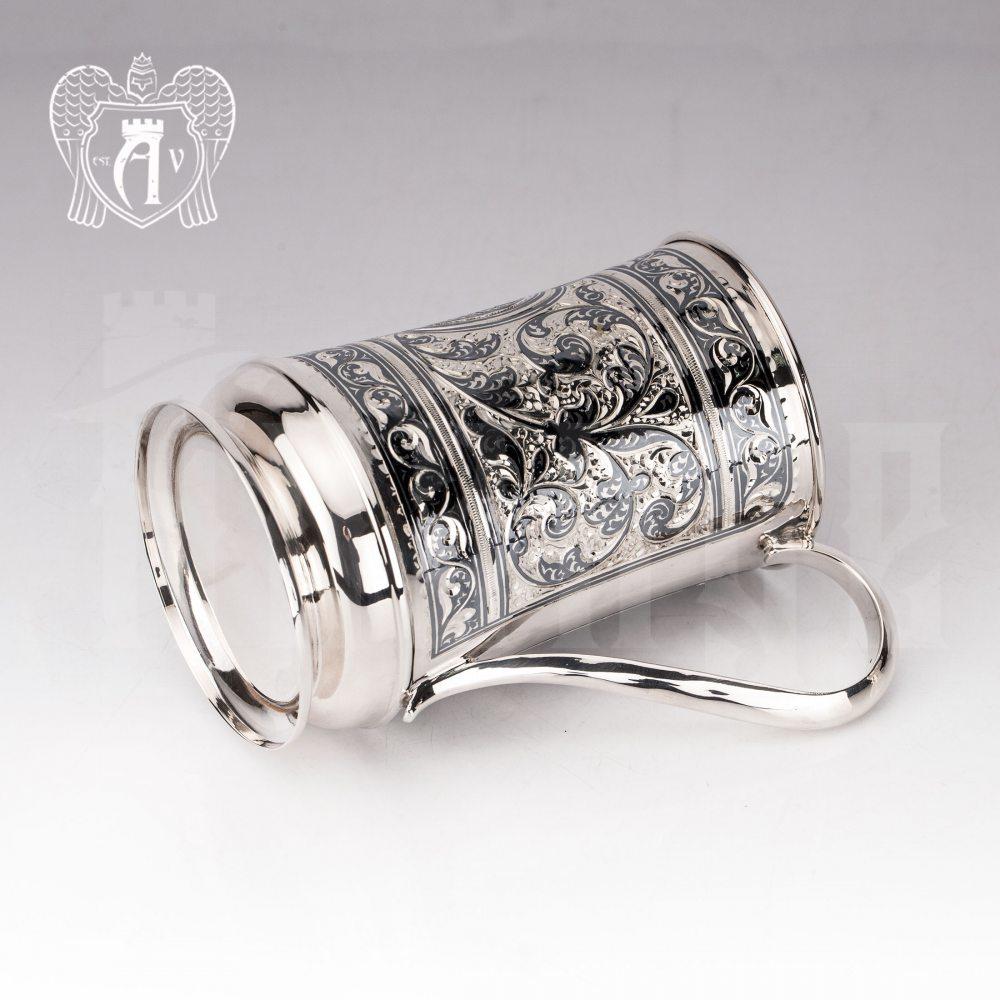 Большая кружка из серебра для напитков  «Олаф»
