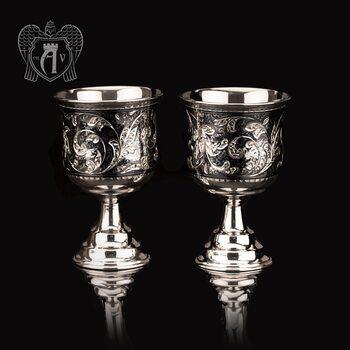 Бокалы из  серебра  «Элегия» 2 шт