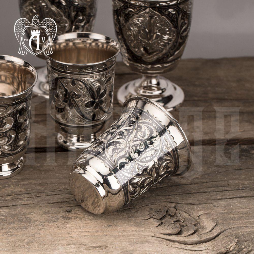 Серебряные стаканы «Кристи» 2 шт