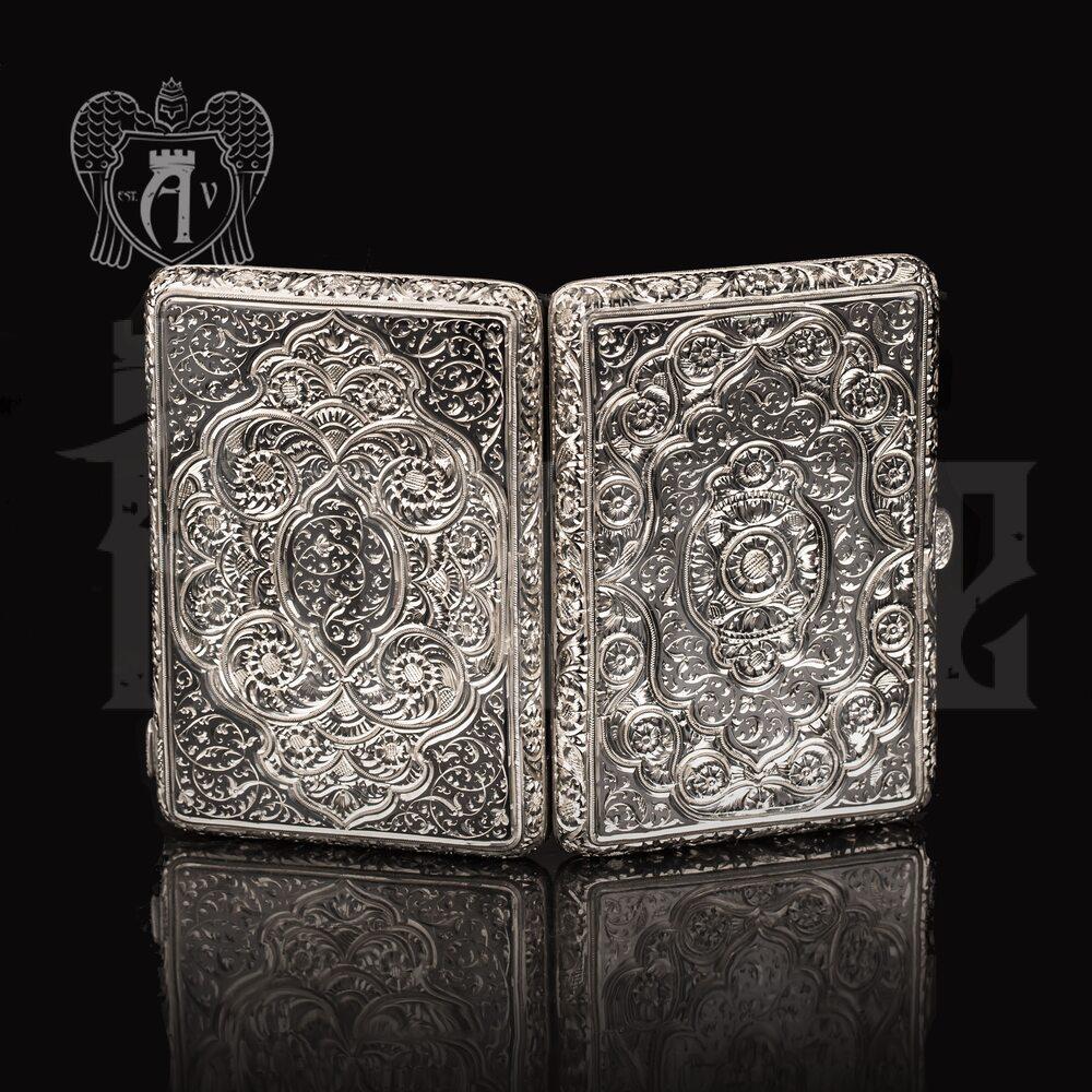 Портсигар из серебра «Ария»