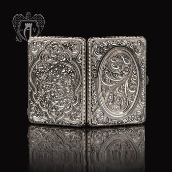 Портсигар из серебра «Иней»