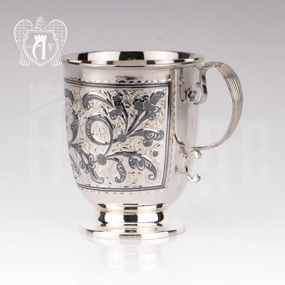 Кружка из серебра  «Алия»