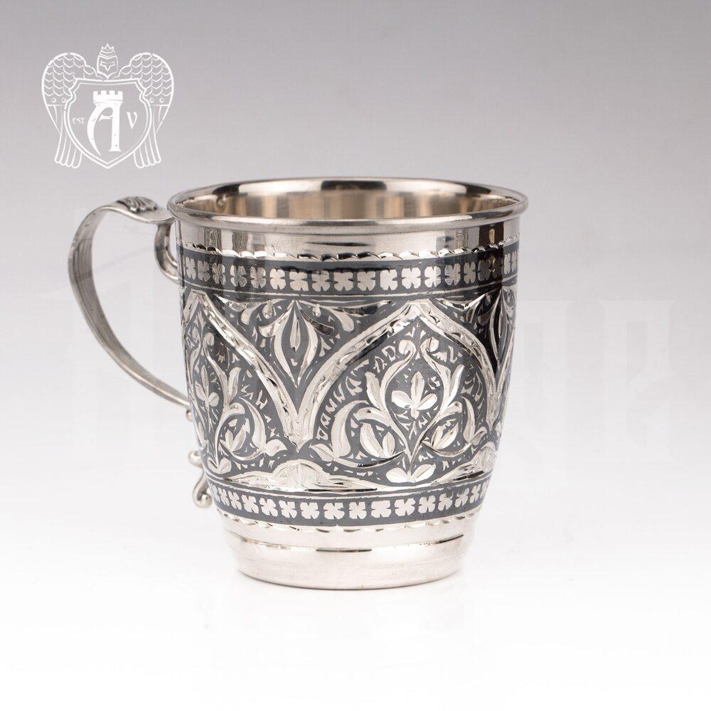 Кружка из серебра  «Катрин»