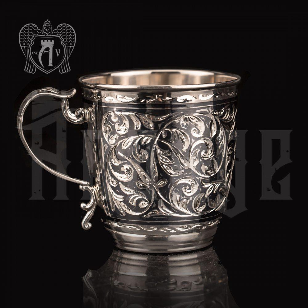 Кружка из серебра  «Морозко»