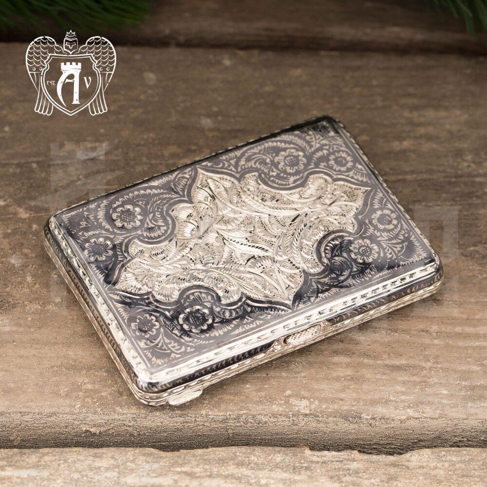 Портсигар из серебра «Рейн»