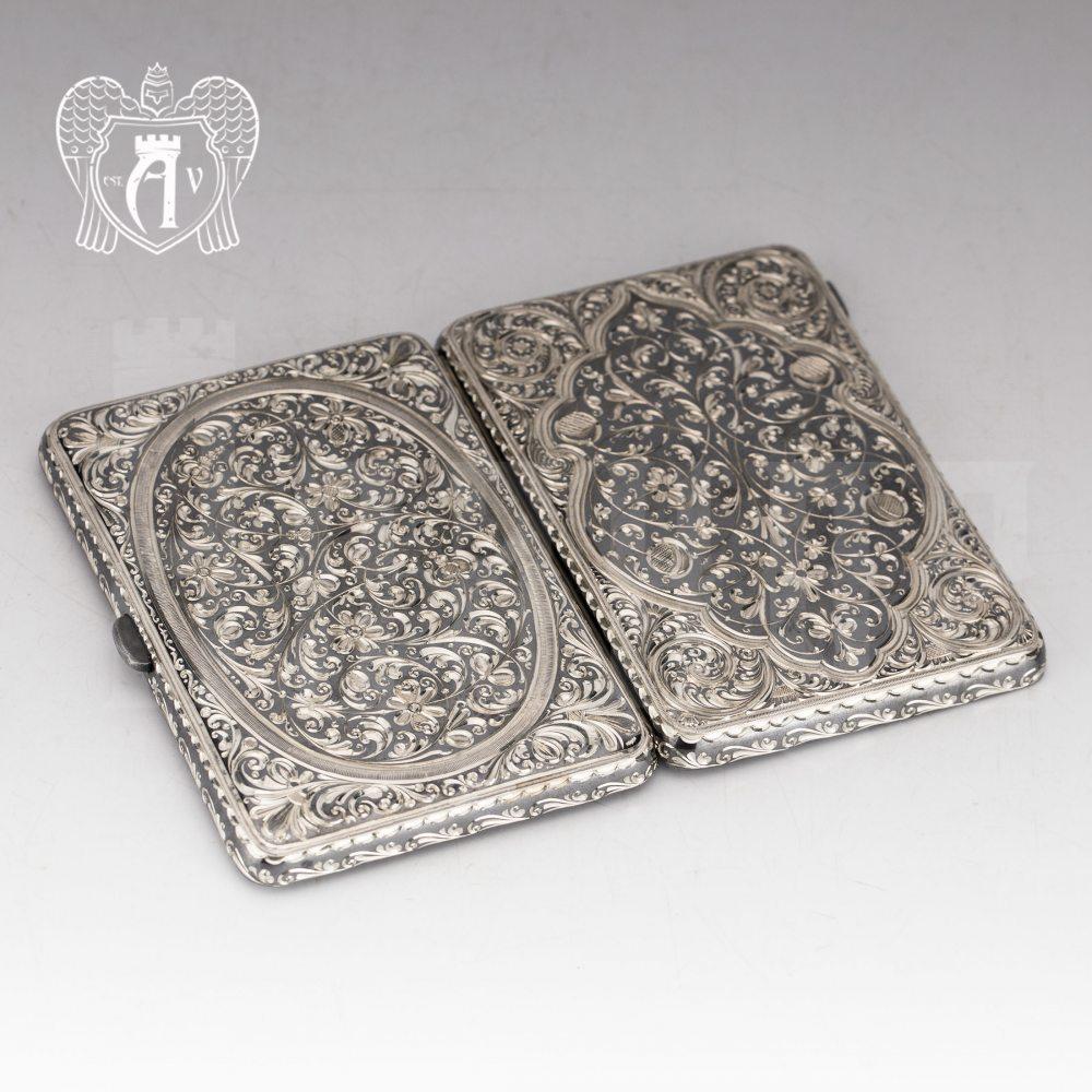 Портсигар из серебра «Одиссей»