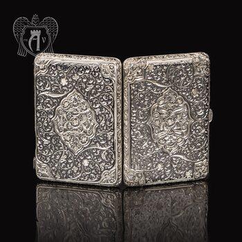 Портсигар из серебра «Парис»