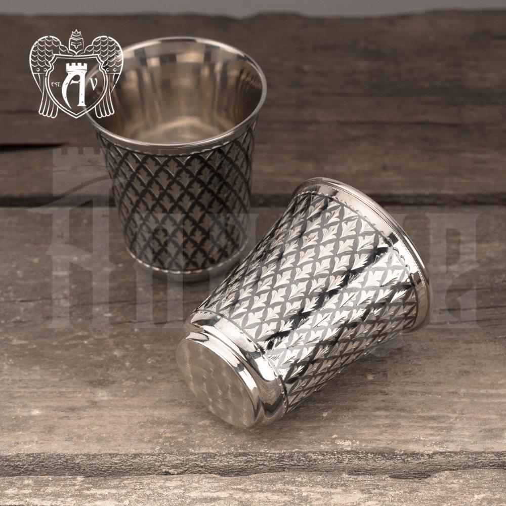 Серебряный стакан «Елочка»