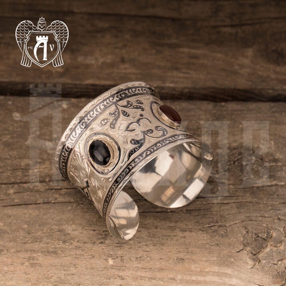 Браслет из серебра кубачинский «Немезида»