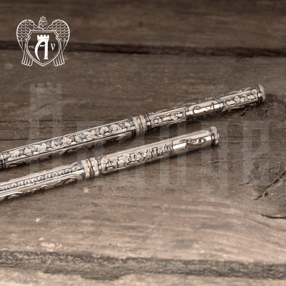 Ручка серебряная «Персона» с именной гравировкой